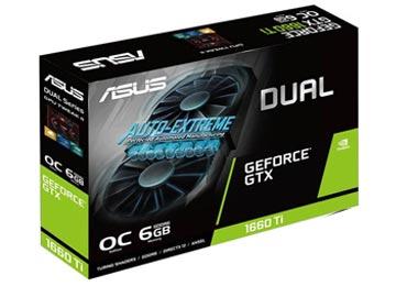 PLACA DE VIDEO ASUS GTX1660 TI 6GB GDDR6 DVI-D 2XHDMI DISPLAYPORT 192BITS DUAL