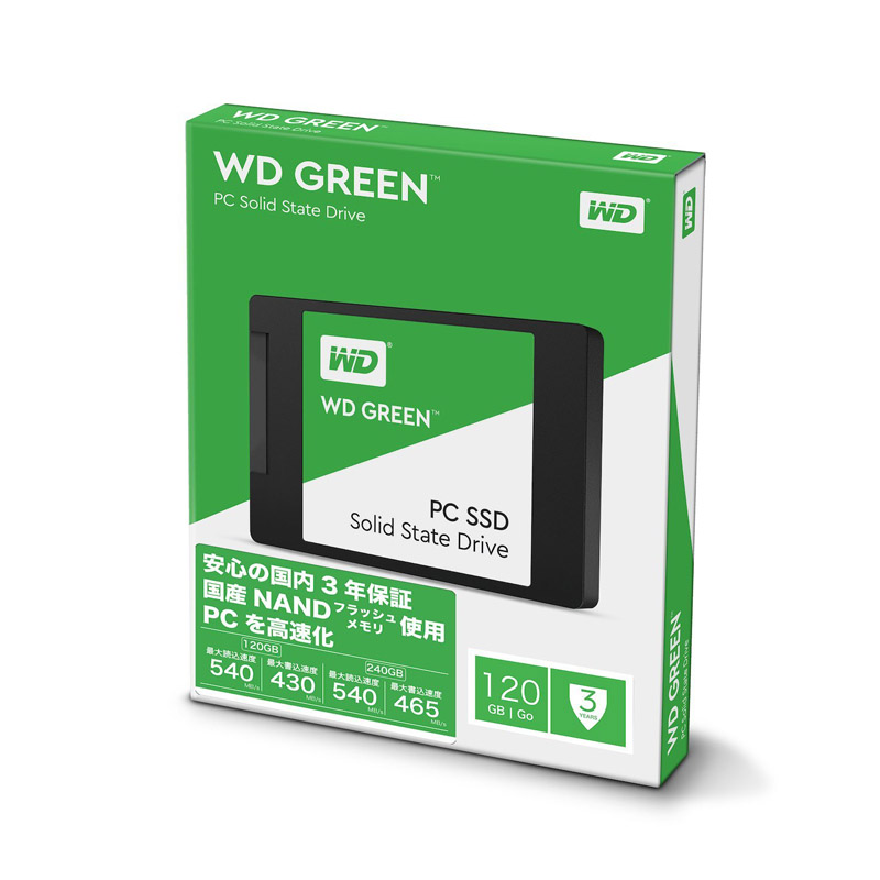 SSD 120GB WESTERN DIGITAL GREEN SATA 3 3D 2.5